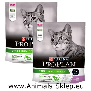 Purina Pro Plan Sterilised z indykiem 2x 400g